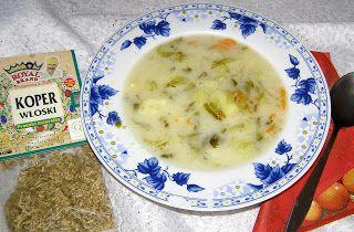 W Mojej Kuchni Lubię.. : zupa ogórkowa z koprem włoskim...
