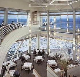 Inside the Cliffhouse Restaurant, SF I've eaten here - the food was excellent and the view was amazing!!