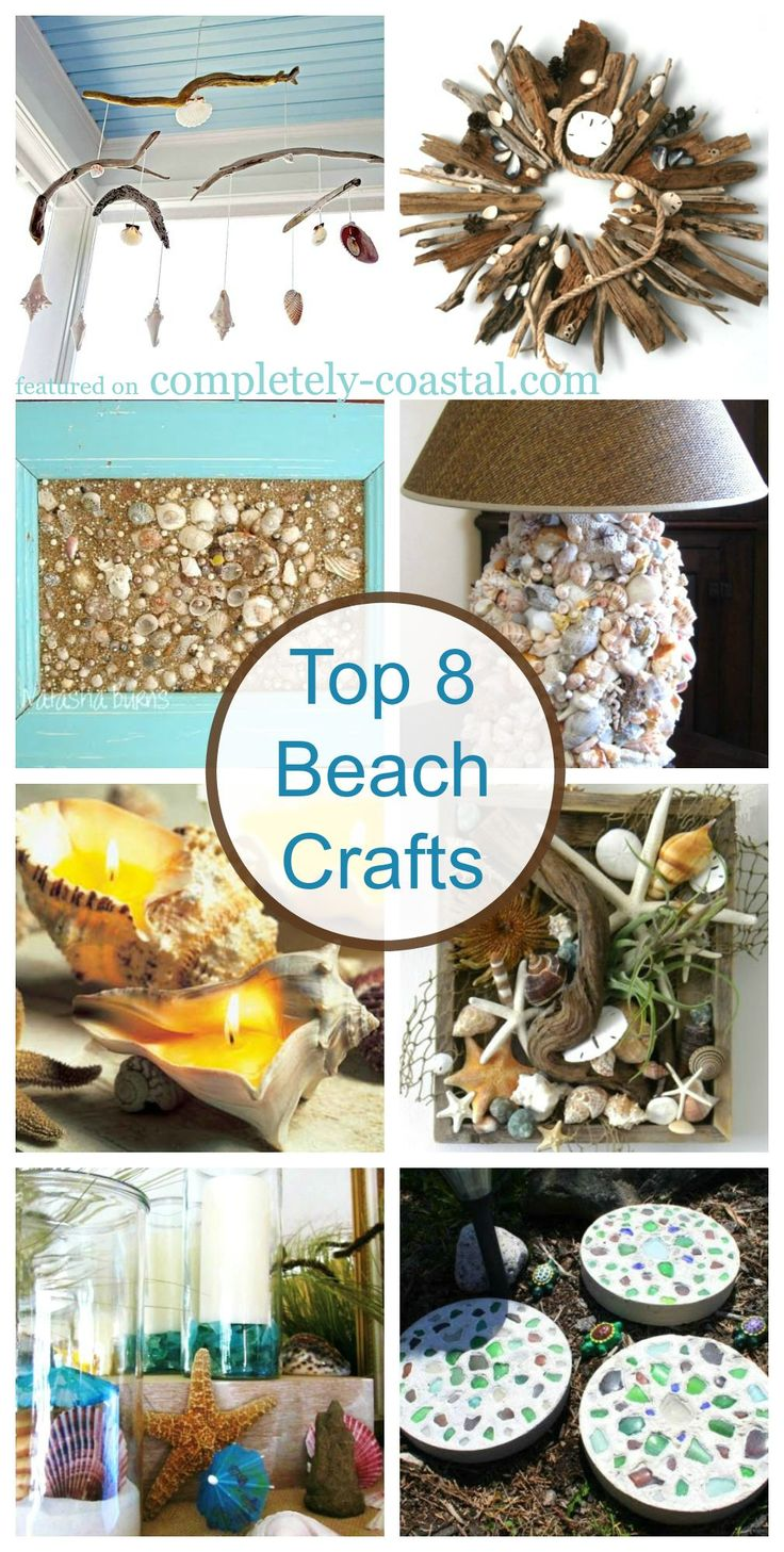 Decor nautical shell mirrors w sea glass starfish amp pearls blue - Top 8 Beach Crafts Gorgeous Ideas For Your Seashells And Other Beach Finds Http