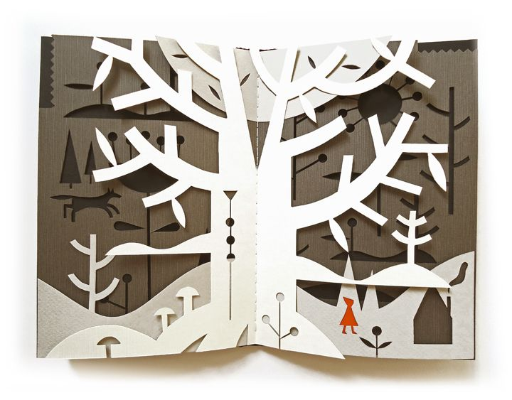 Tracy Walker papercut - In Pursuit of Little Red Riding Hood #paper