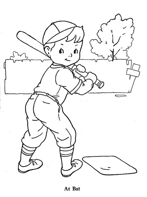 Baseball Coloring Picture To Print Free Printable Sports Color Like For Kids