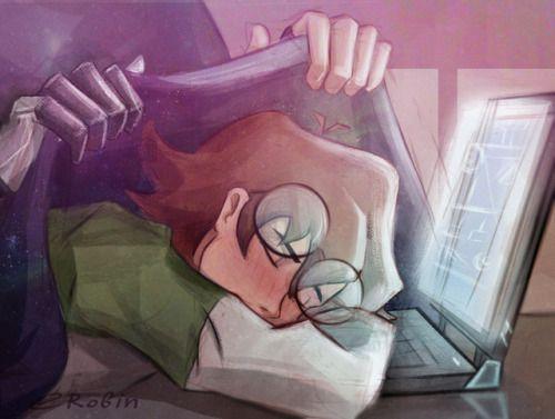 """get some rest, my green lion"" - by enotrobin - Shiro & Pidge"