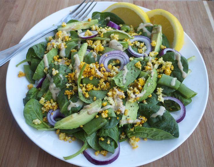 Avocado,+Spinach+and+Millet+Superfood+Salad