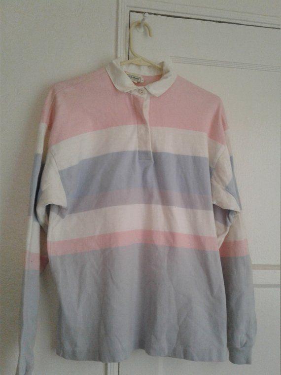 1e46c0c1 Vintage 90s Woman's Large LL Bean 100% Cotton Rugby Shirt   Herbie ...