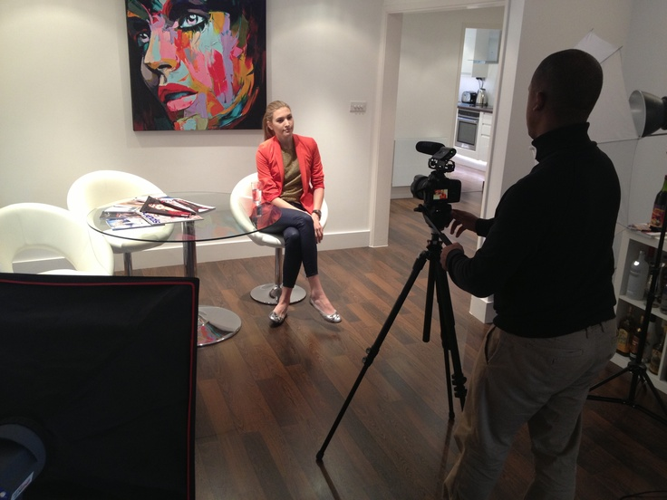 StarNow member, Juste Juozapaityte, Britain and Ireland's Next Top Model, Runner-up, about to be interviewed by Felicity Jackson, UK & Europe Casting Manager for StarNow #modelling
