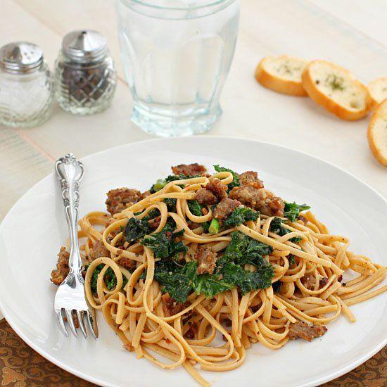 Sausage and Kale Pasta. | food | Pinterest