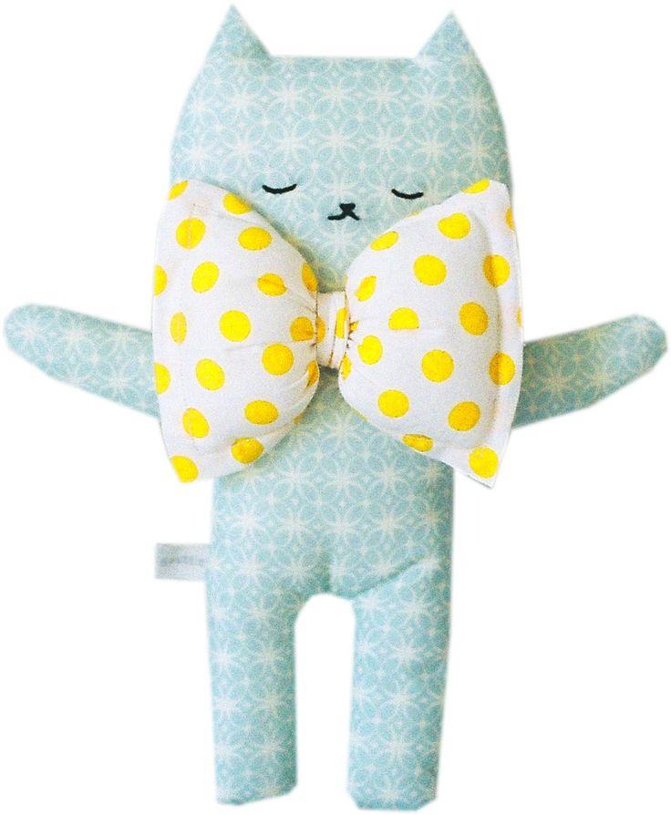 Image of Doudou chat Kim - Aqua jaune