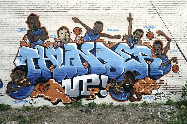 Downtown OKC Thunder UP Mural...Love our city...Love our boys!