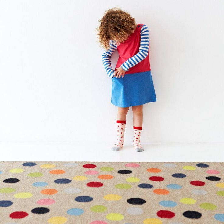 Our spotty Confetti rug is designed to delight little feet and add a splash of colour to any creative play space | armadillo-co.com