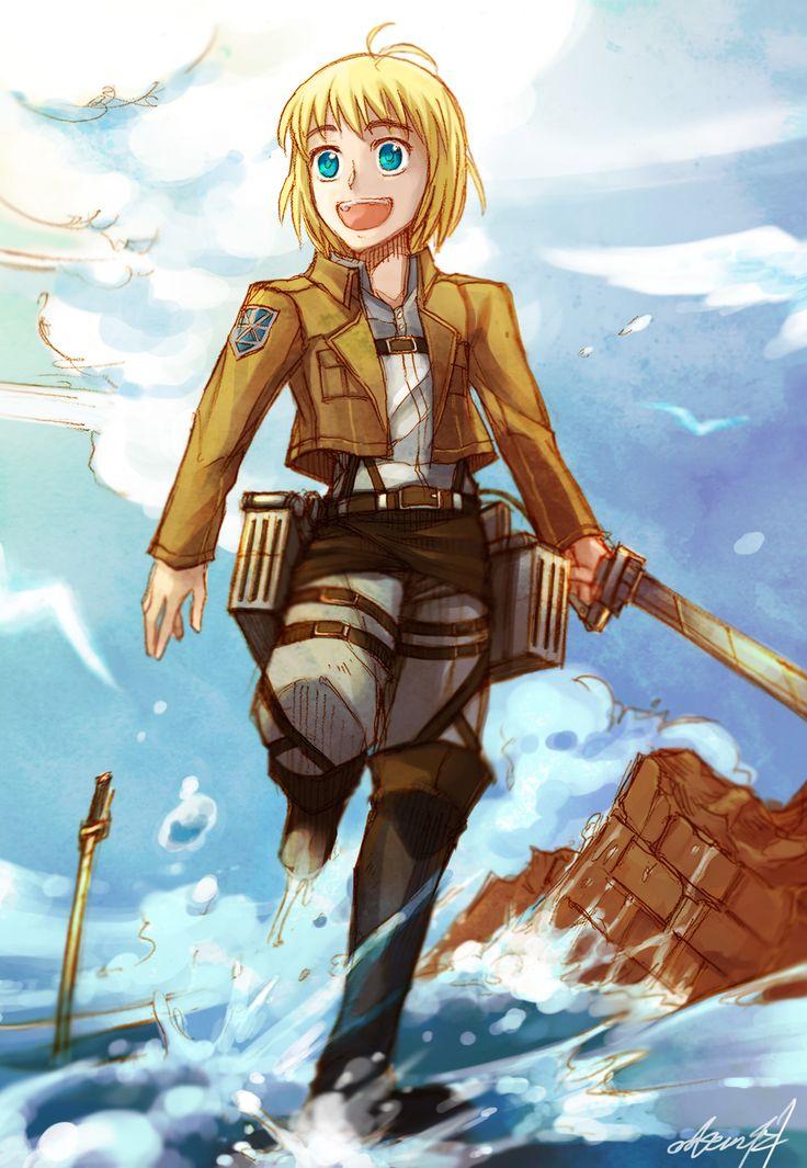 Armin and the ocean | Armin, Attack on titan, Anime