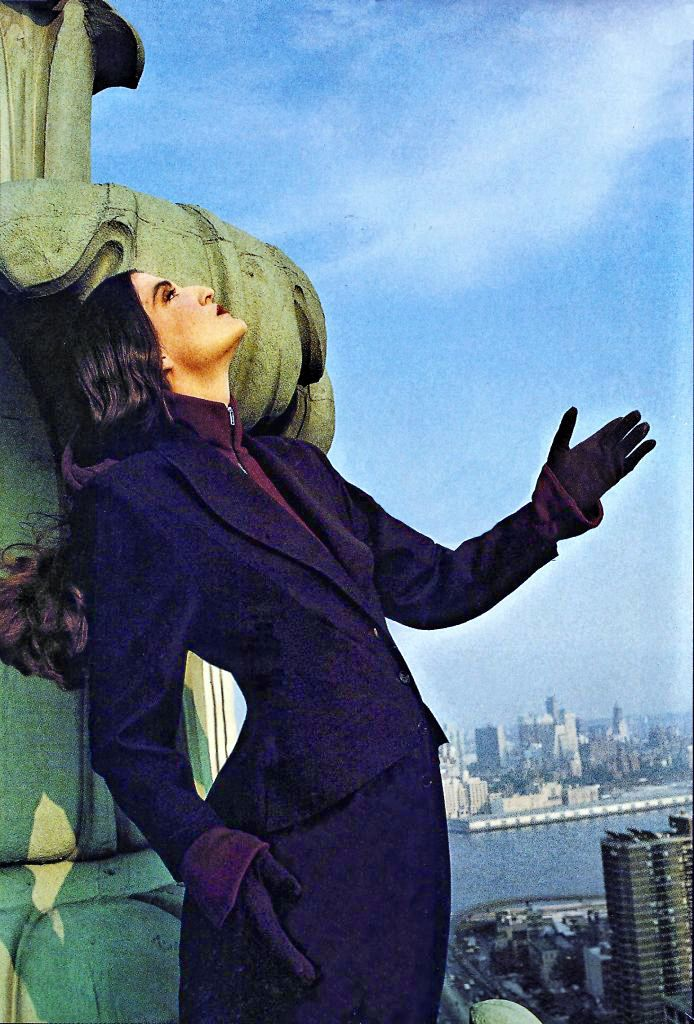 Coat by Puck&Hans, photo made by Thierry Mugler, styling Frans Ankoné for Avenue Magazine sep 1988