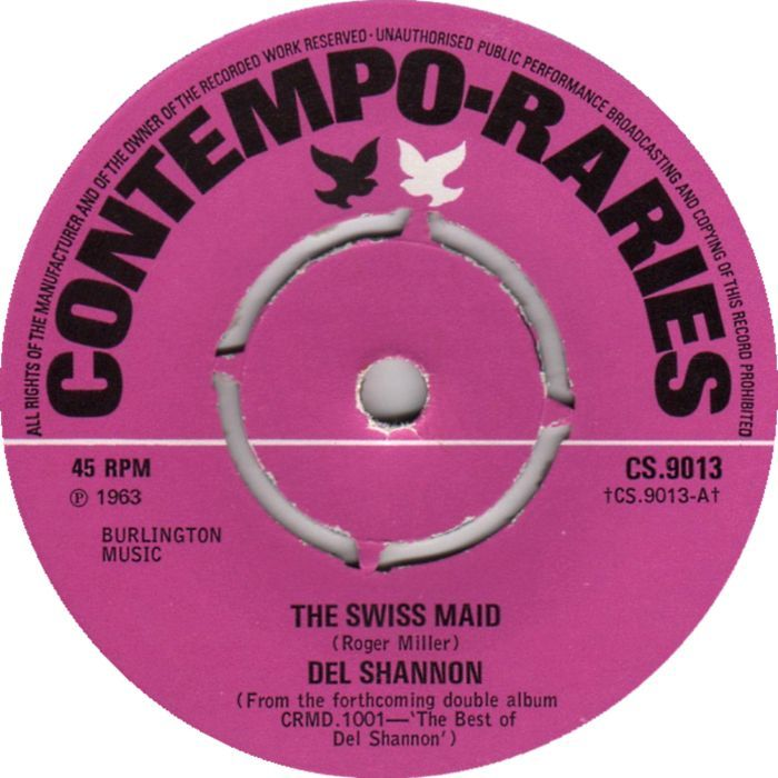 Del Shannon The Swiss Maid 7 Vinyl 45rpm