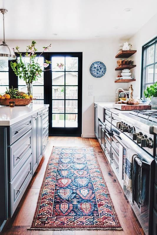 dark cabinets and natural light