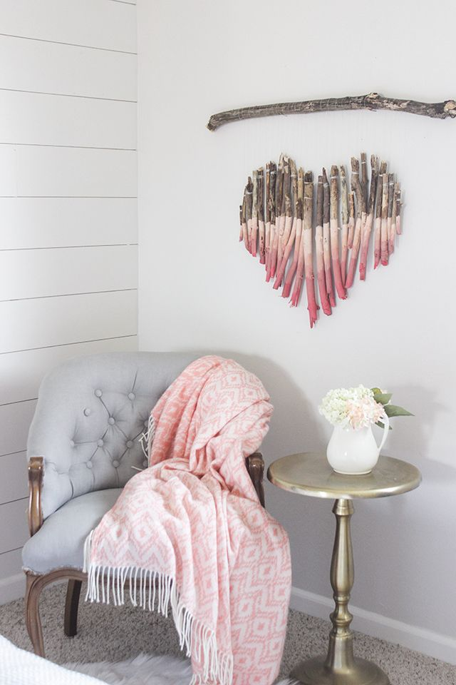 Diy Branch Heart Wall Art Crafts Wood Pinterest Diy Wall