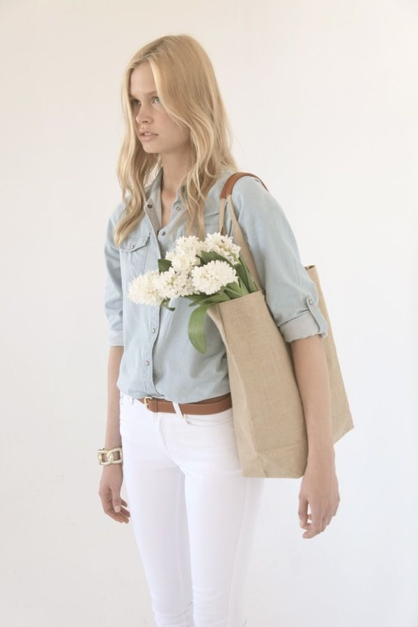 perfect weekend outfit {love the chambray top}