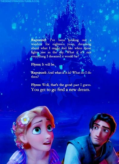 disney princess quotes | Disney Princess Rapunzel and Flynn