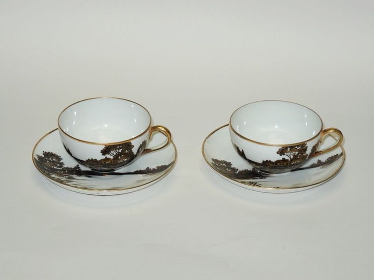 31 best nippon black white images on pinterest cutlery dinner set of 2 elaborate antique c 1911 nippon noritake morimura teacup saucer ebay fandeluxe Images