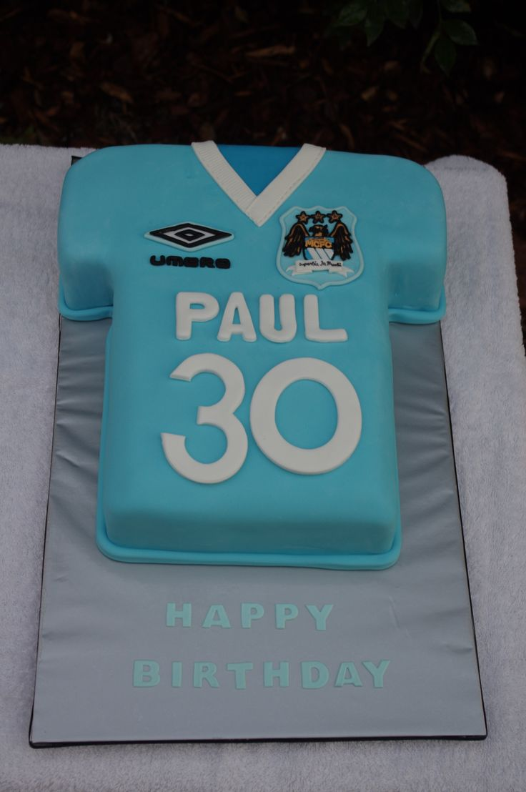Manchester City Jersey Cake Birthday Cakes For Boys