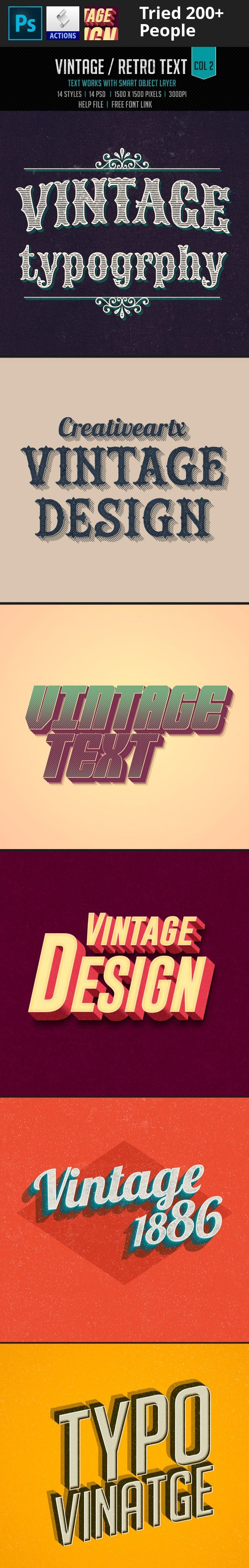 3d, add-on, badge, classic, effect, grunge, label, layer, logo, mockup, old school, old text, photoshop, psd, retro, retro text, ribbon, style, template, text, text effects, text style, typography, vintage 14 Text style   14 Layered PSDs   Text works with smart object layer   Easily modify text colors and patterns   1500×1500 pixels 300dpi   Help file and Free font link attached   Please rate it!   ................MORE TEXT EFFECTS….................   http://graphicriver.net/colle...