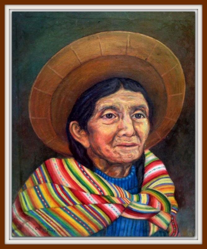 Retrato Campesina Huanca  De: Florentino Cabrera Mayo.