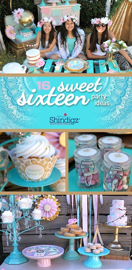 Celebrate your daughter's sweet 16 with party ideas from the Shindigz blog! Check out the Boho Sweet 16 Party that @lauraslilparty styled using Shindigz products!