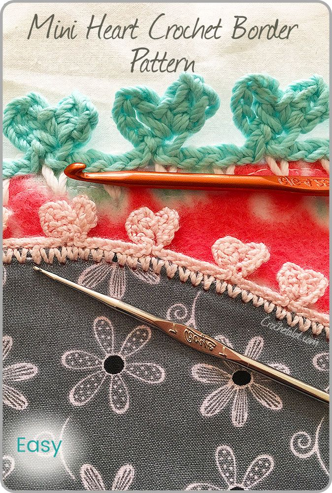 The Mini Heart Crochet Border Pattern is easy and simple. Get the free pattern.