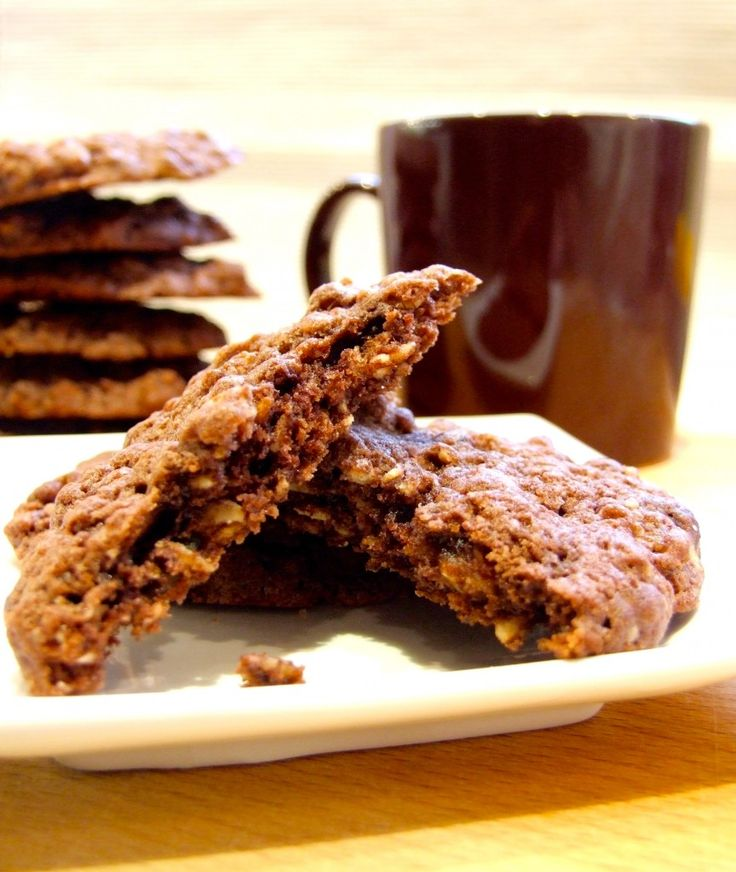 Crumbly, chewy, rich and chocolate, and packed with fruit & nuts. These easy-to-make double chocolate muesli cookies are a real treat!