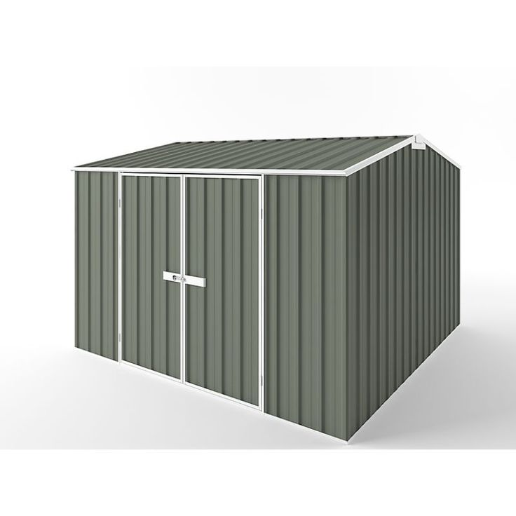 Storage Garden Shed w/ Gable Roof in 3 Colours 3x3m | Buy Steel Sheds