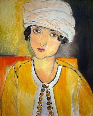 Henri Matisse - Fauvisme - Laurette au turban blanc et veste jaune