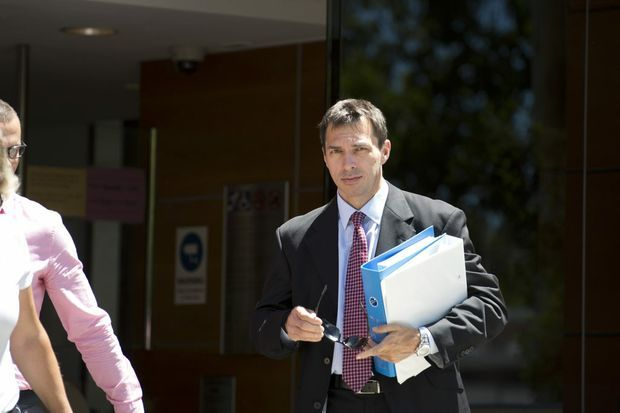 Toowoomba Hospital general manager Dr Peter Gillies leaves Toowoomba Courthouse yesterday after appearing at a coronial inquest into the death of nurse Katie Lee Howman.
