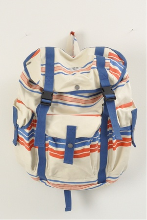 striped canvas backpack: Awesome Backpacks, Cute Baby, Wood Stripes Mills Bags, Canvas Backpacks, Summer Bags, Wood Wood, Stripes Canvas, Backpacks Pur, Baby Bags