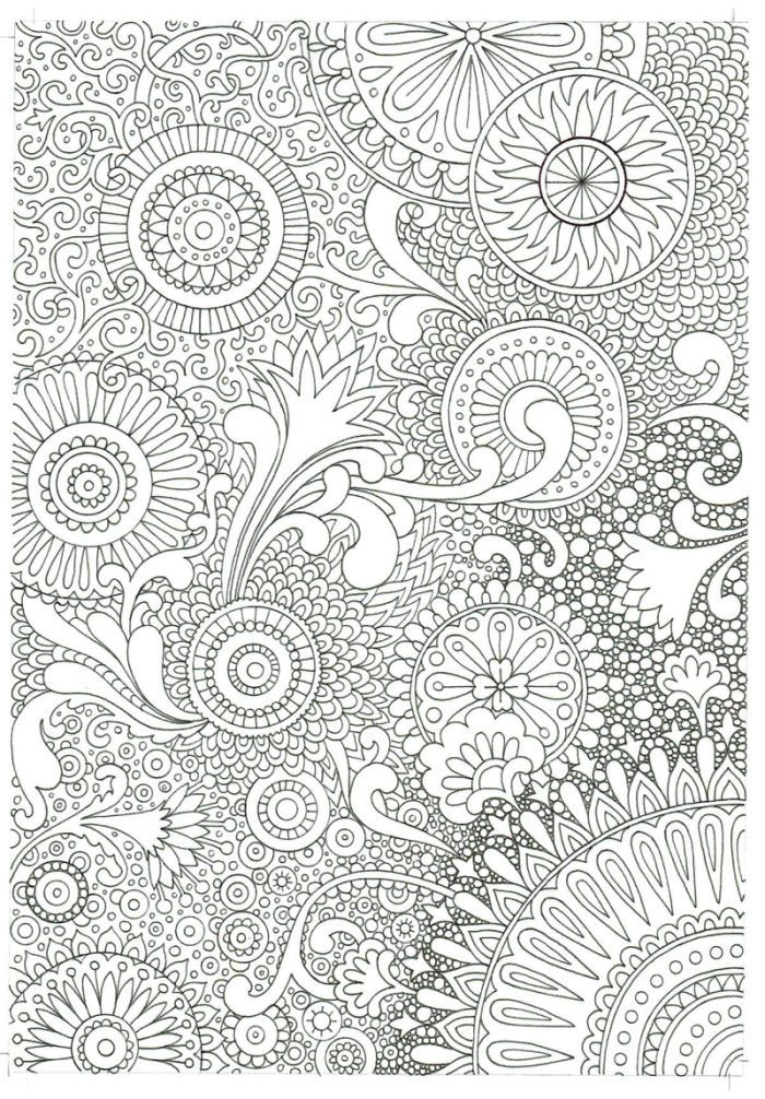 Adult coloring free page