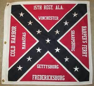 Sewn Cotton Civil War Flag Confederate Flag 15th Alabama | eBay