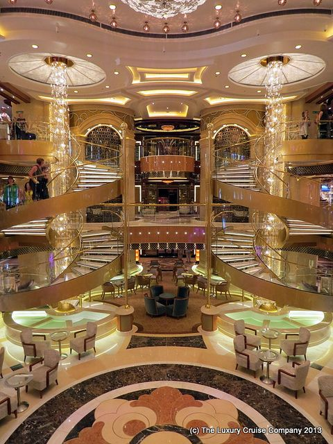 Royal Princess atrium.  Sailed on her March 2014.  Beautiful ship!  Came home with many great memories