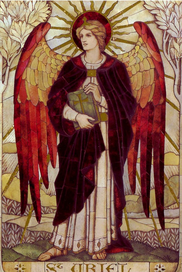 Archangel Uriel, James Powell (1888-1915), St. Johns Church, Wiltshire