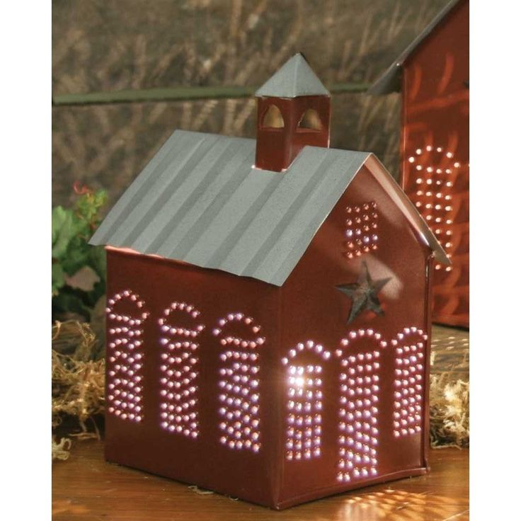 Rustic Style Little Schoolhouse Electric Wax Warmer