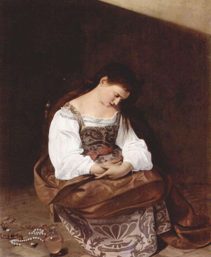 La Maddalena penitente, olio su tela, 1594-1595, Galleria Doria Pamphilj -  Roma.