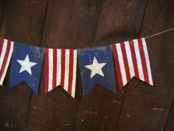 Patriotic Banner Patriotic Bunting 4th of by IchabodsImagination