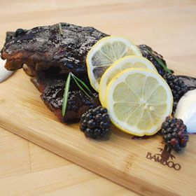 Blackberry Glazed Ribs, a recipe from ATCO Blue Flame Kitchen