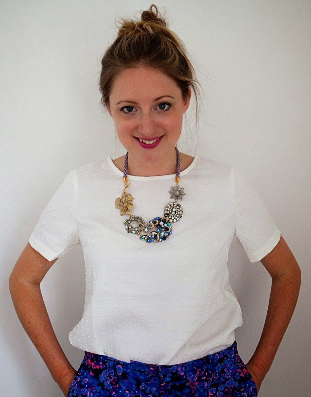 recycled jewel brooch necklace tutorial