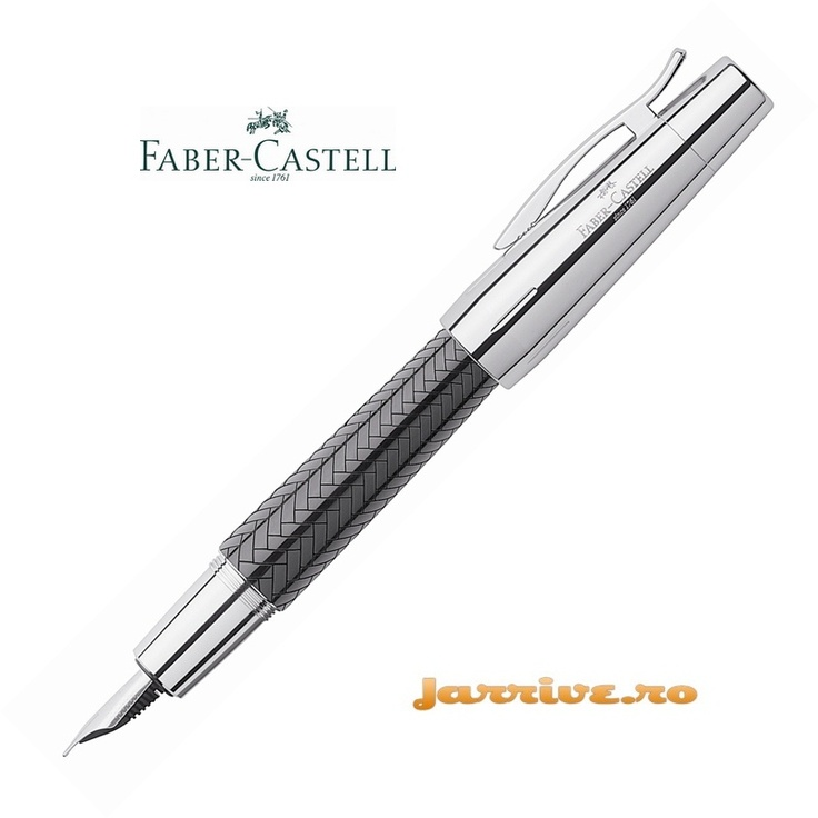 Faber-Castell e-motion Fountain Pen Parquet Black 148240