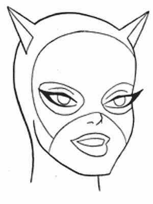 cat woman girl superhero coloring pages