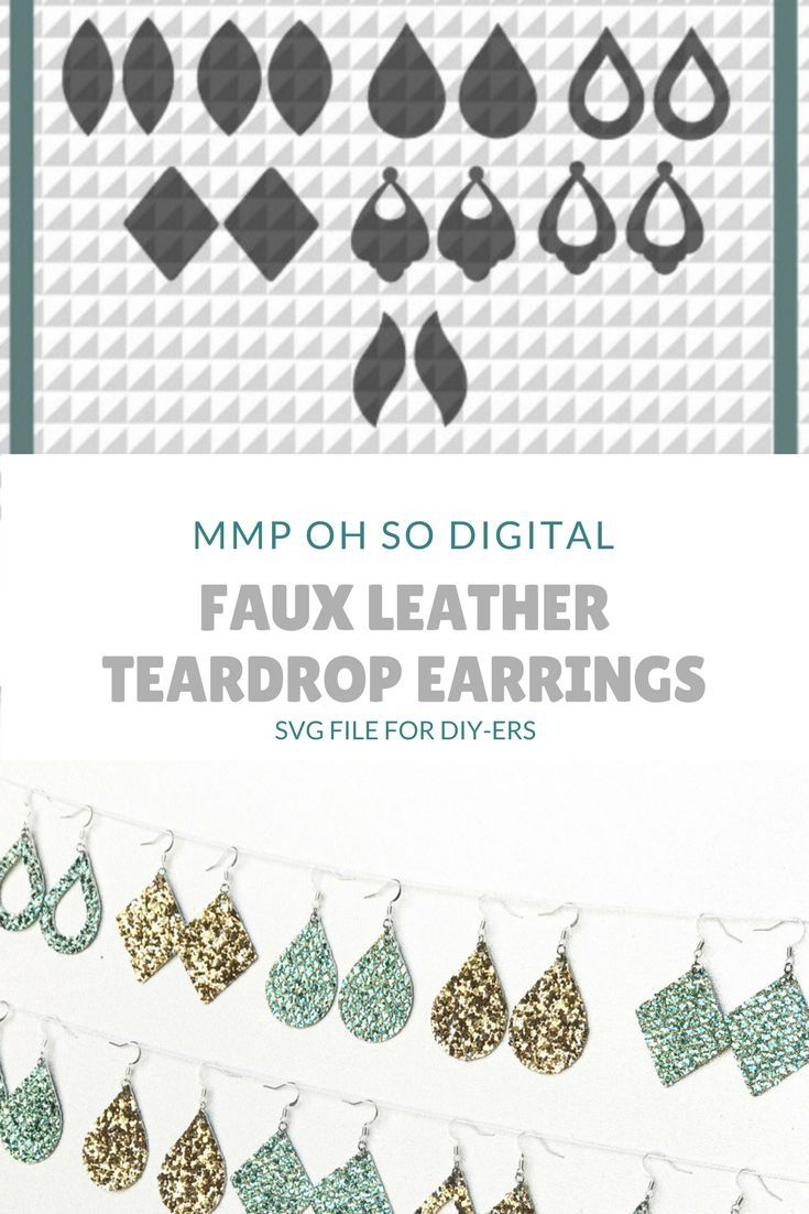 Teardrop Earring Bundle SVG, earrings SVG, earrings