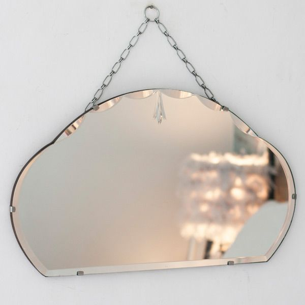 This pretty Vintage Detailed Chained Frameless Mirror from The Other Duckling with its flowing etched grass design is a bit of a beauty.