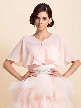 Short Sleeve Chiffon Special Occasion Evening Jacket/Wedding Wrap(More Colors) Bolero Shrug - USD $ 10.99