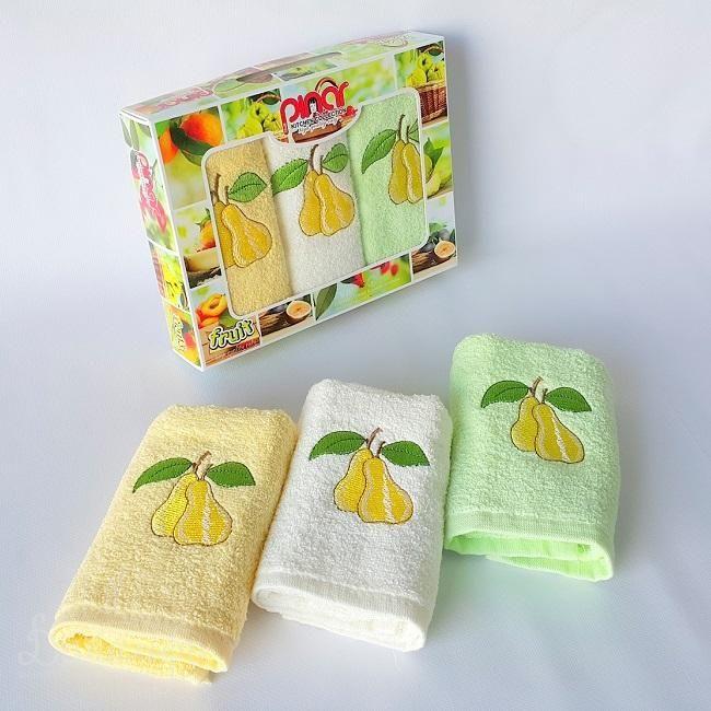 Набор полотенец с вышивкой PINAR MERIC FRUTTI V17 30х50 (3шт) от Karna (Турция) - купить по низкой цене в интернет магазине Домильфо