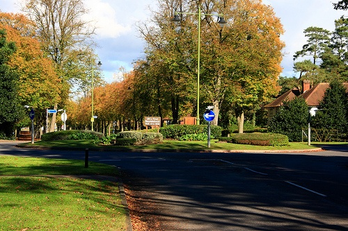 UKs first roundabout in Letchworth Garden City