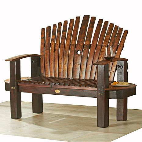 Reclaimed Wine Barrel Stave Love Seat At Wine Enthusiast   $2,295.00