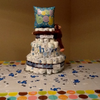Diaper cakes ideal for baby shower
