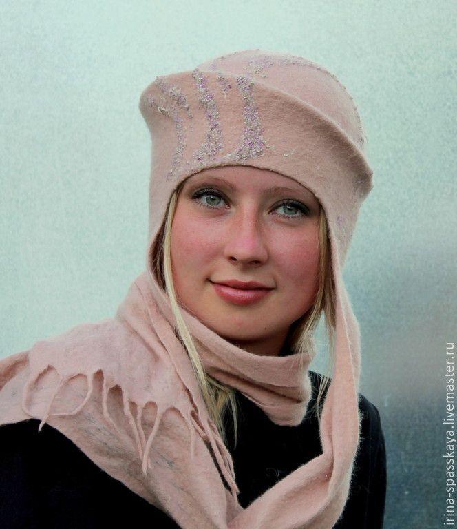 """Купить Шляпка """"Очень холодный рассвет"""" из коллекции """"Бедуины. Поход на север"""" - бледно-розовый"""